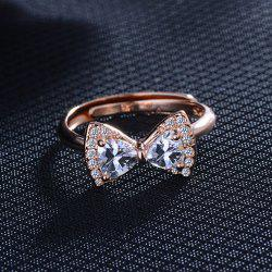 Bague en alliage de strass -