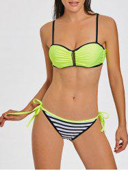 Push Up  Stripe Moulded Bikini -