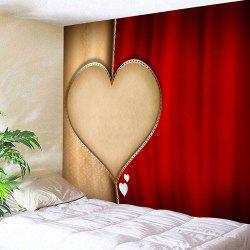Valentine's Day Heart Printed Home Background Wall Hanging Tapestry -