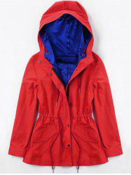 Drawstring Hooded Heated Jacket -