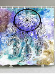 Dreamcatcher Watercolor Painting Waterproof Shower Curtain -