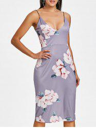 Backless Floral Slip Dress -