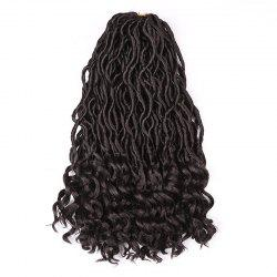 Medium Crochet Dreadlocks Braids Wavy Synthetic Hair Extension -