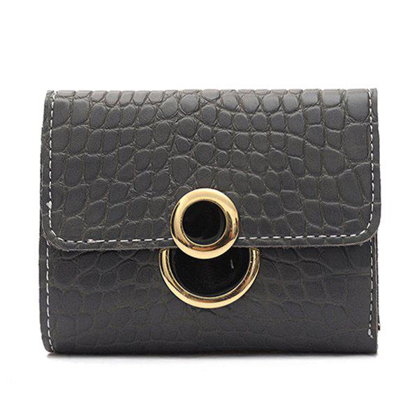 Trendy Embossing PU Leather Tri Fold Wallet