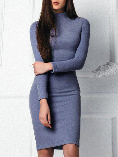 Fashion Mock Neck Bodycon Sweater Dress