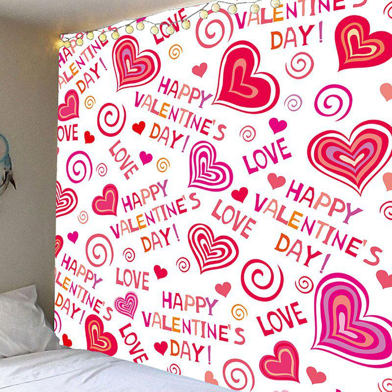 Store Valentine's Day Full Heart Printed Wall Hanging Tapestry