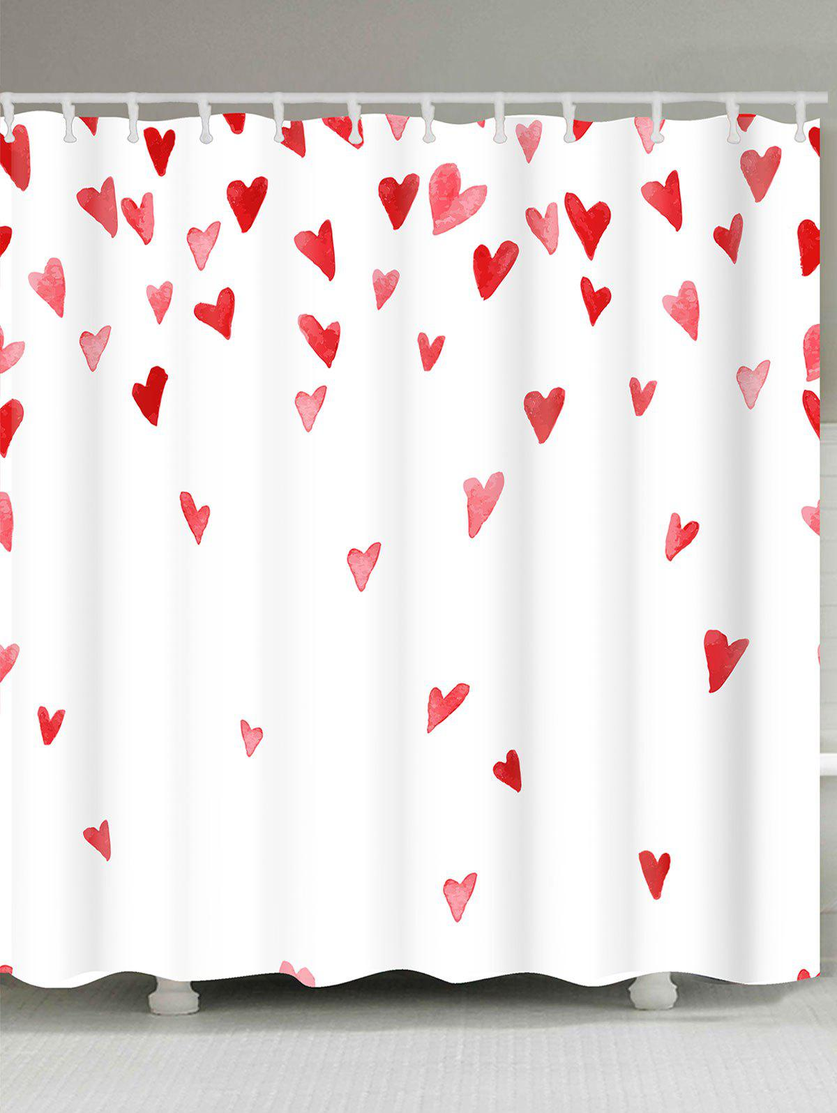 Outfits Valentines Day Heart Of Love Patterned Shower Curtain