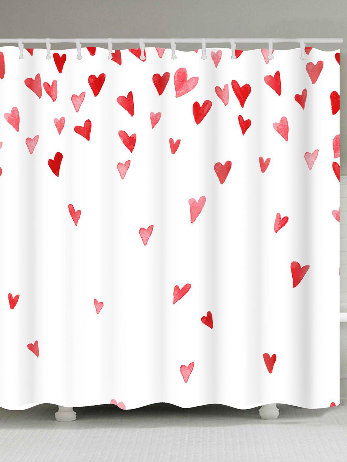 Unique Valentine's Day Heart of Love Patterned Shower Curtain