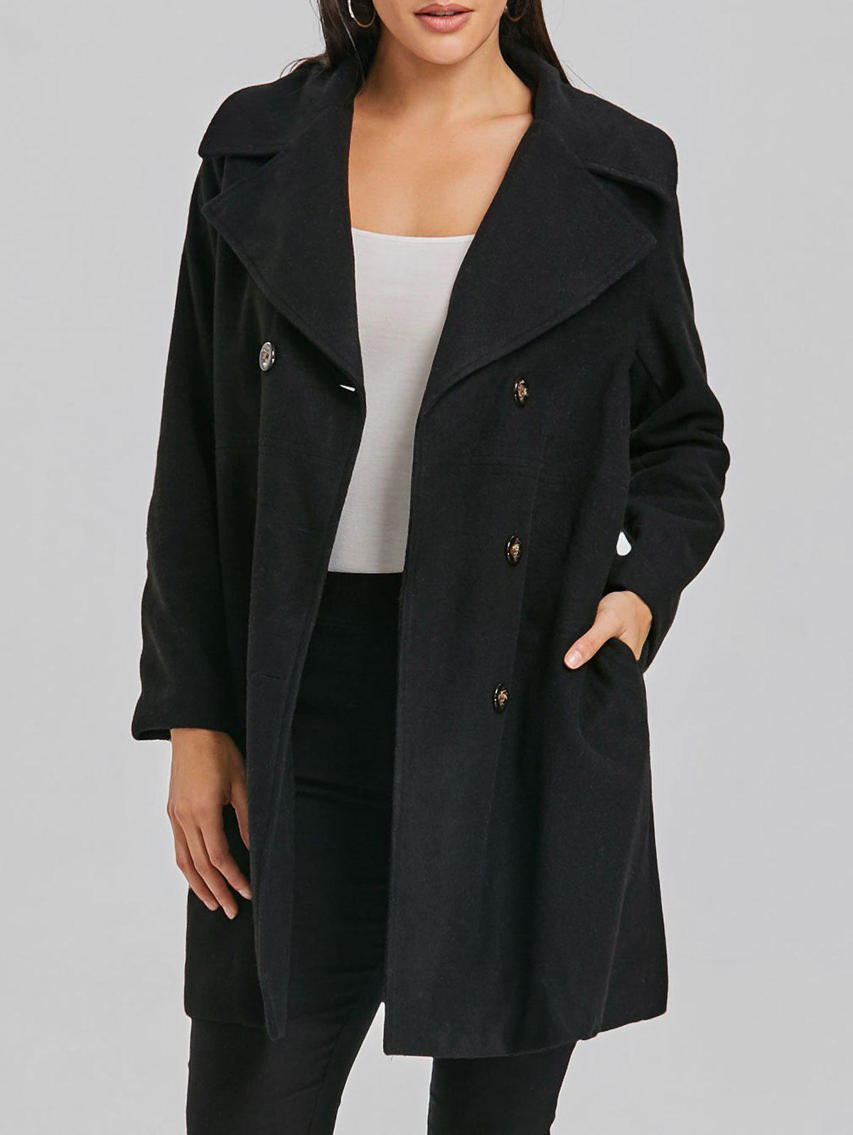 Hot Double Breasted Wool Coat