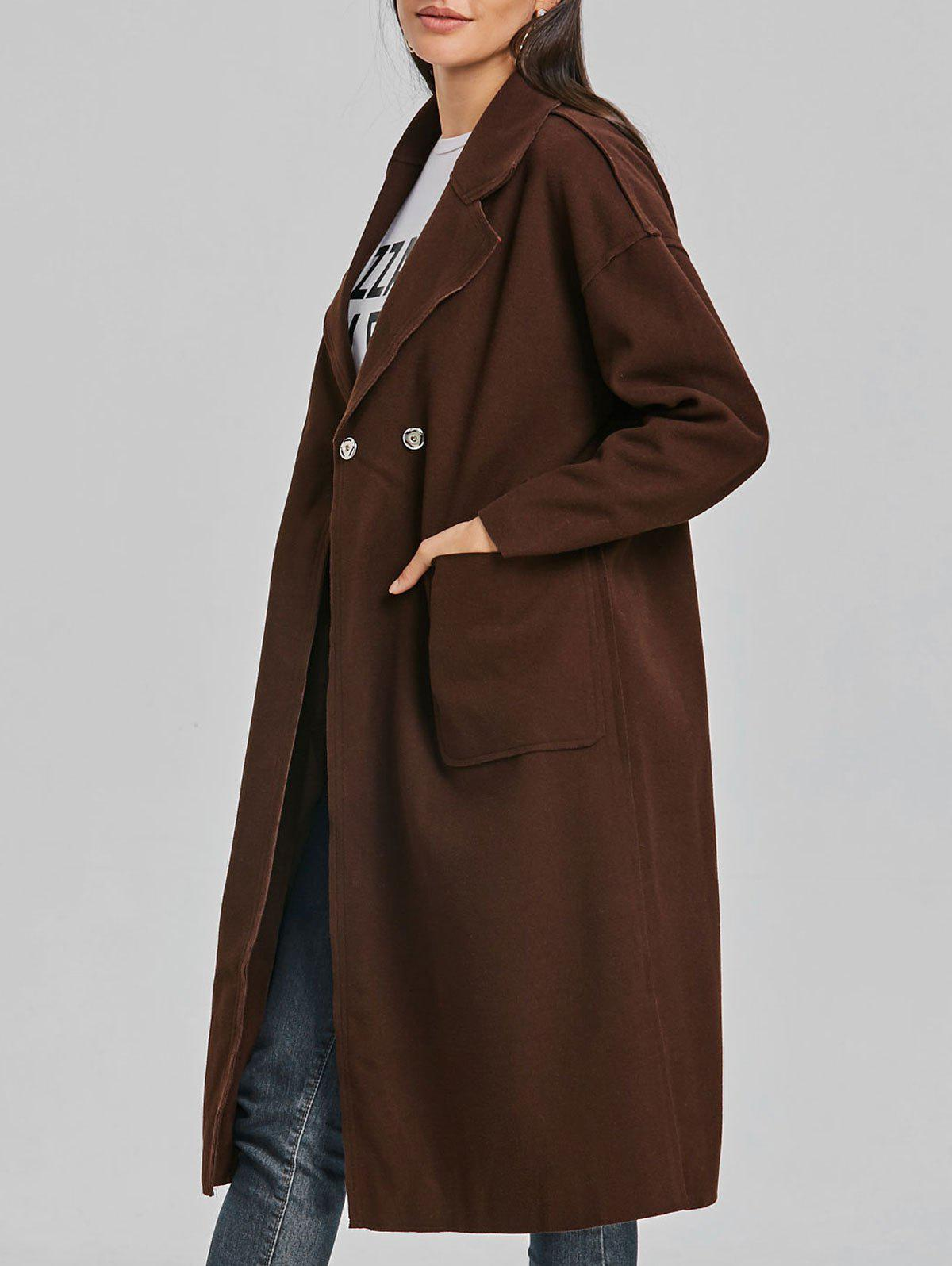 Poches en laine Wrap Coat