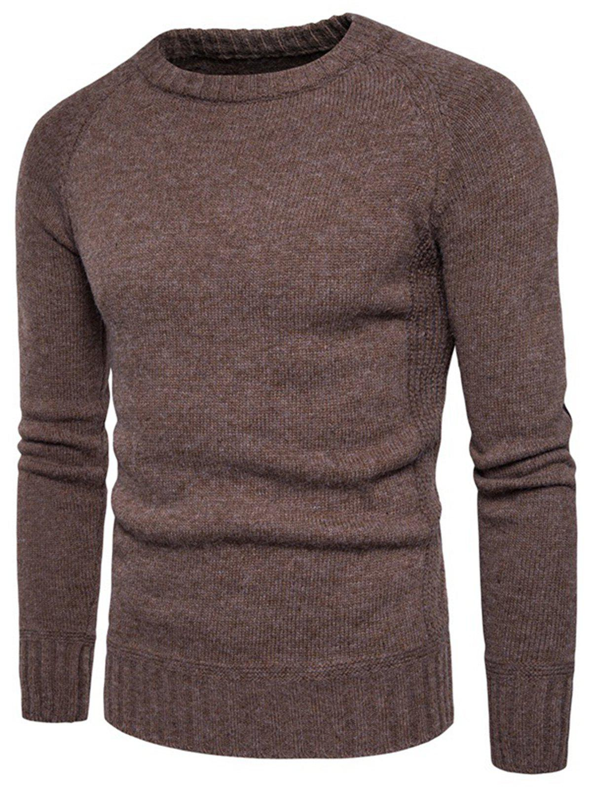 Buy Elbow Patch Raglan Sleeve Sweater