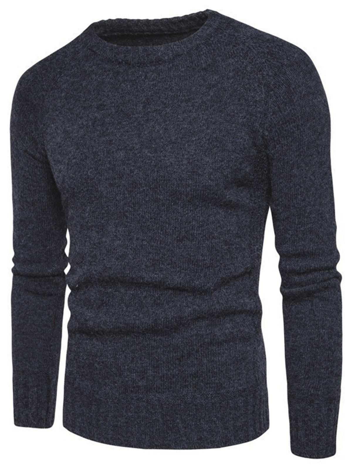 New Elbow Patch Raglan Sleeve Sweater