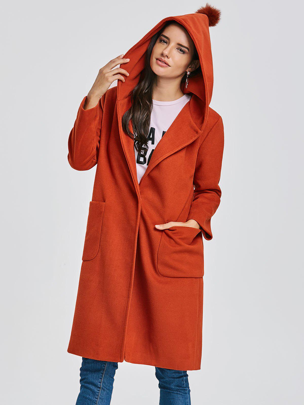 Shops Pocket Longline Hooded Coat
