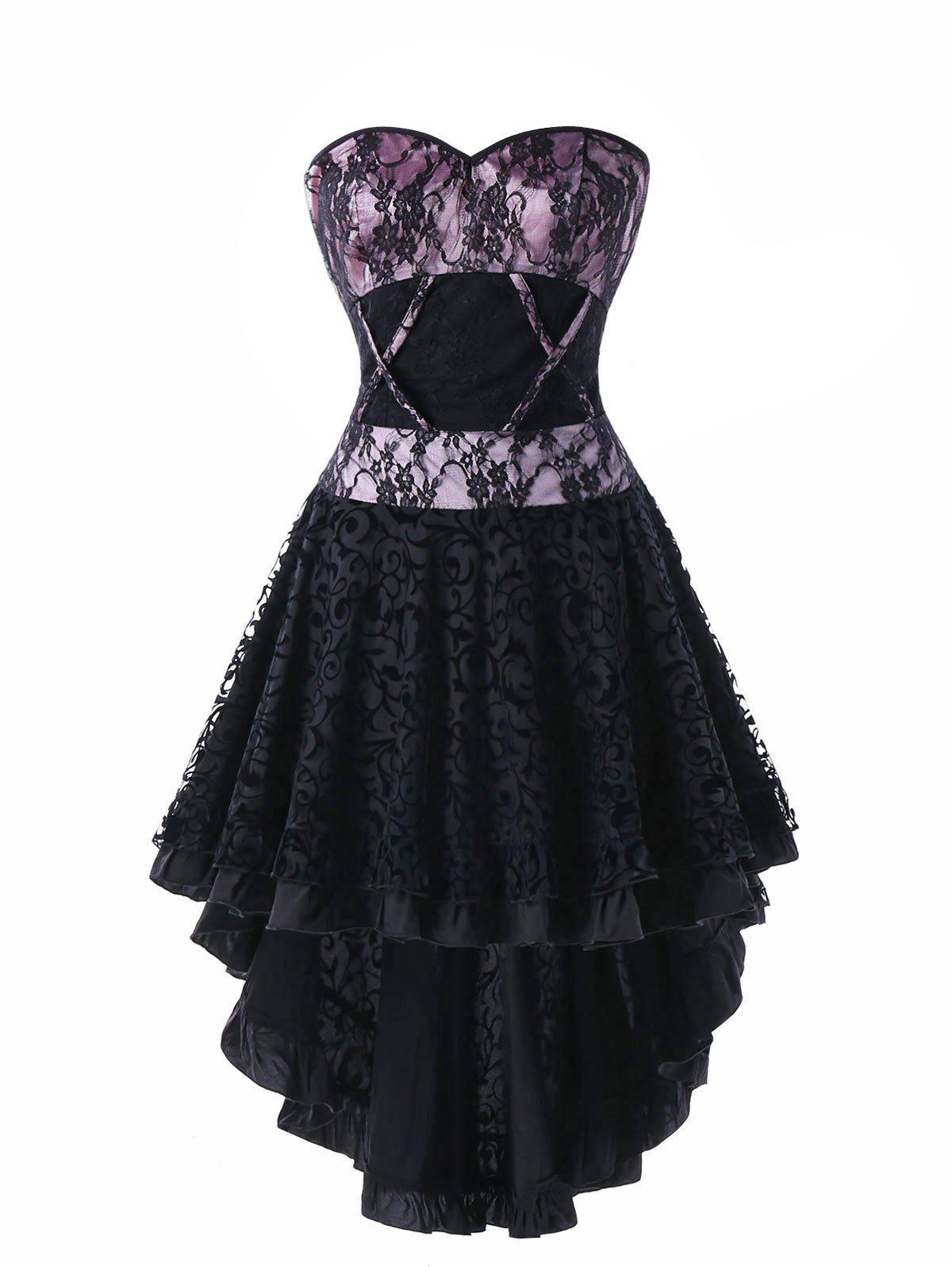 Lace Up High Corset Dress
