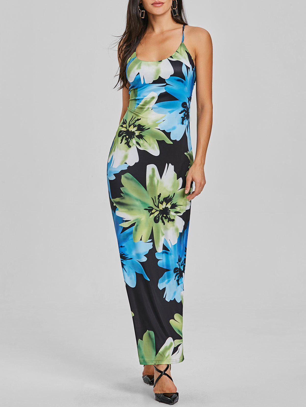 Outfits Floral Maxi Spaghetti Strap Dress