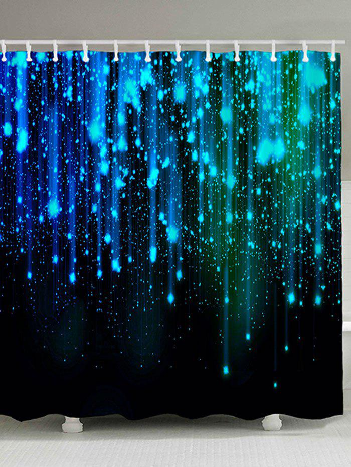 Unique Fantasy Star Night Print Polyester Waterproof Shower Curtain