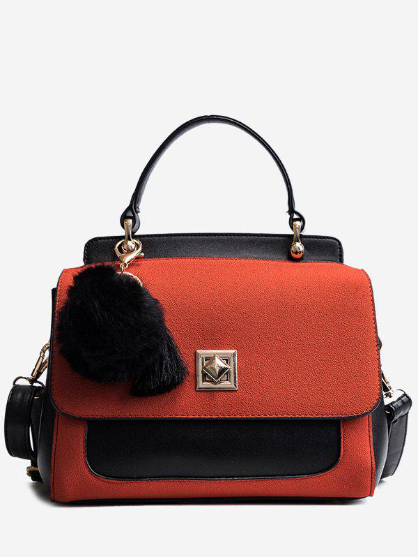 Fancy Twist-Lock Pom Pom Tassels Handbag