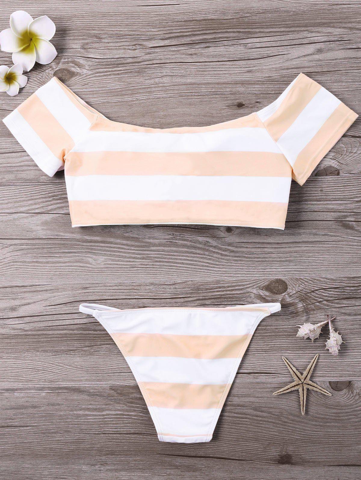 Buy Striped Padded Bikini Set