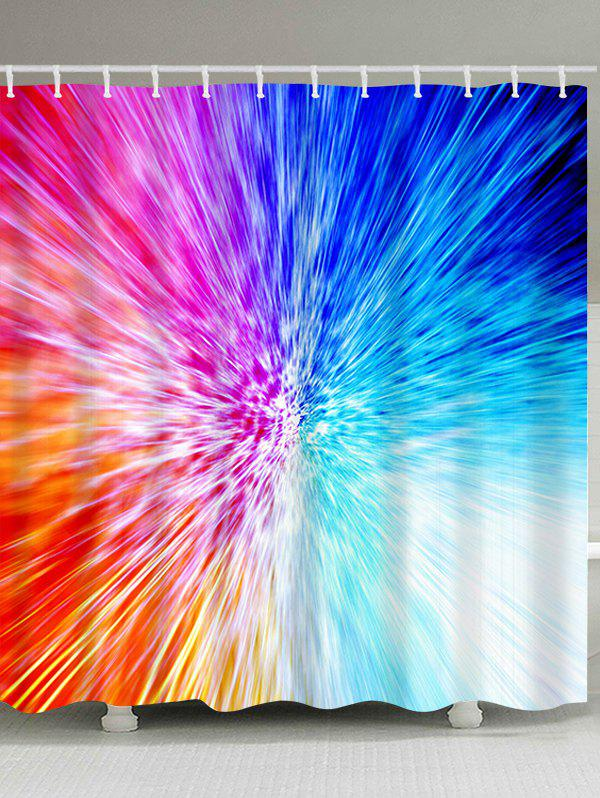 Trendy Colorful Abstract Light Waterproof Fabric Shower Curtain