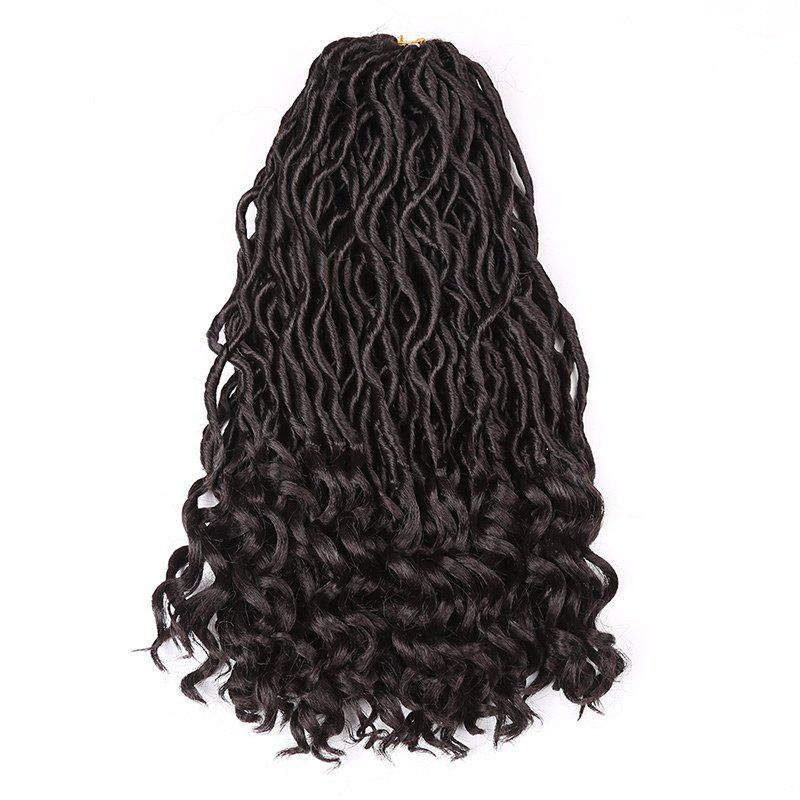 Hot Medium Crochet Dreadlocks Braids Wavy Synthetic Hair Extension