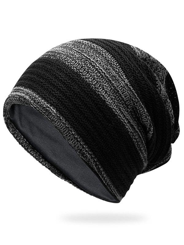 New Outdoor Striped Pattern Color Splice Crochet Knitted Beanie