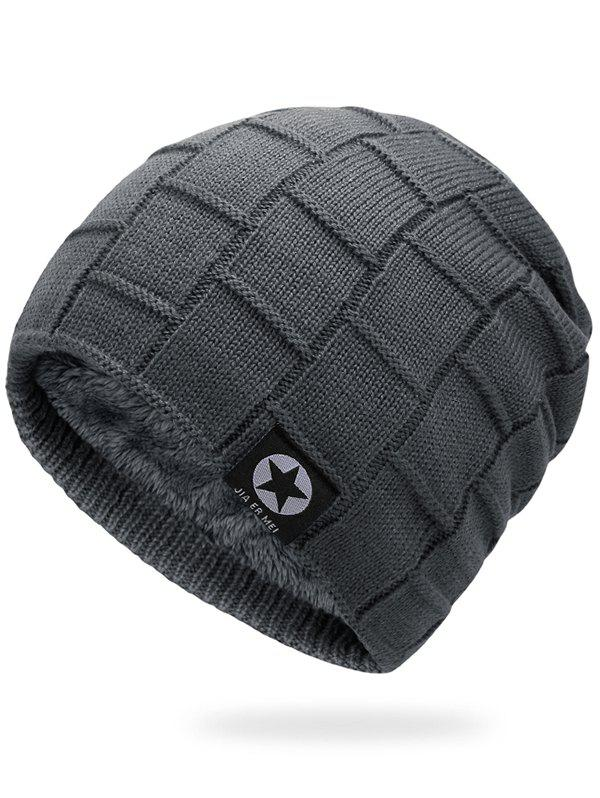 Cheap Outdoor Star Label Embellished Thicken Slouchy Beanie