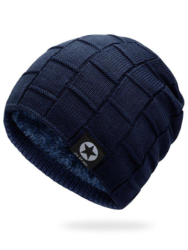Shop Outdoor Star Label Embellished Thicken Slouchy Beanie
