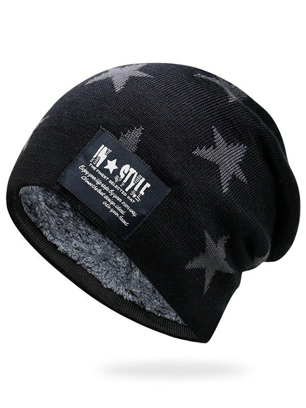Cheap Outdoor Star Pattern Decorated Thicken Knitted Beanie