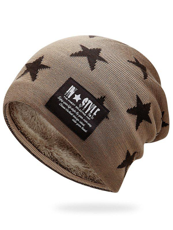 Store Outdoor Star Pattern Decorated Thicken Knitted Beanie