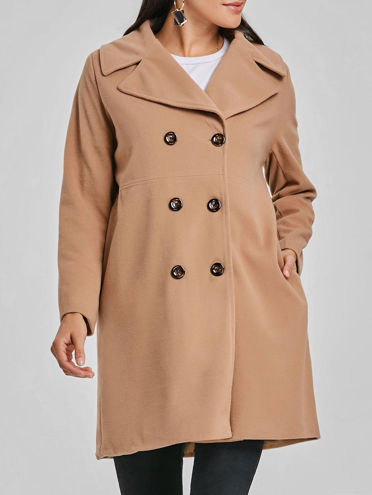 Outfit Double Breasted Wool Coat