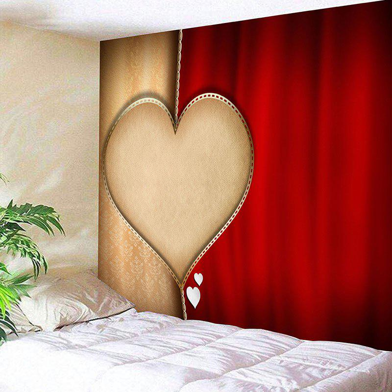 Chic Valentine's Day Heart Printed Home Background Wall Hanging Tapestry