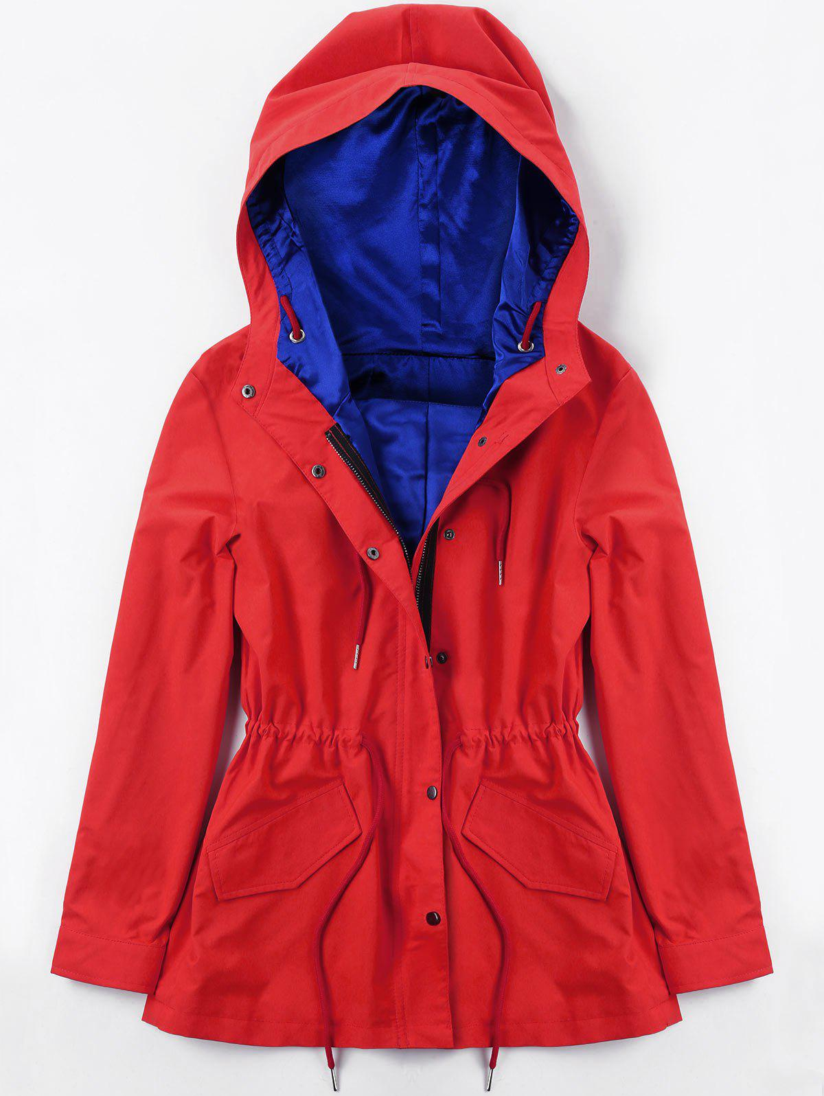 Sale Drawstring Hooded Heated Jacket