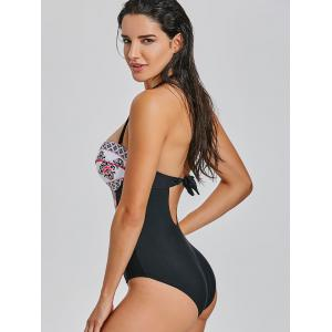 One Piece Tribal Print Underwire Swimsuit -