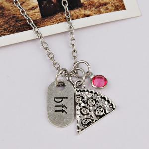 Simple BFF Carved Friendship Necklace -