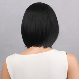 Short Neat Bang Straight Bob Synthetic Wig -