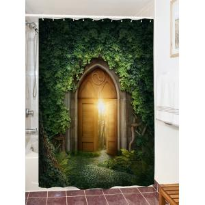 Creepers Gate Print Waterproof Bathroom Shower Curtain -