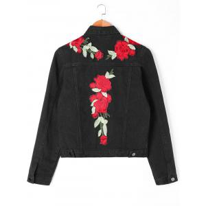 Floral Embroidery Applique Shirt Jacket -
