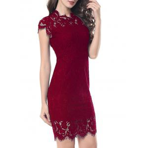 Fitted Vintage Lace Dress -