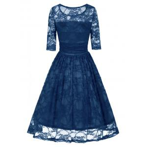 Lace Vintage Fit and Flare Dress -