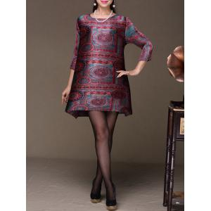 Ethnic Printed Mini Dress -