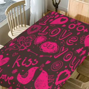 Valentine's Day Love Decorations Print Table Cloth -