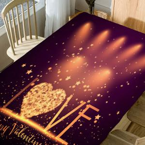 Love Radiance Valentines Day Print Waterproof Table Cloth -