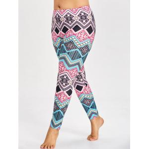 multicolor 5xl tribal plus size pattern leggings for yoga