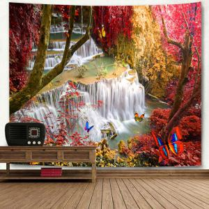 Landscape Wall Hanging Deco Forest Waterfall Tapestry -