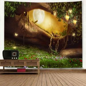Wall Hanging Fantasy Forest Hole Pattern Tapestry -