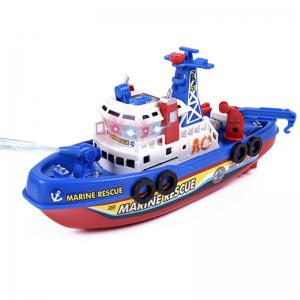 Children Bathing Electric Ship Marine Fireboat Music Light Water Toy(Without Batteries) -
