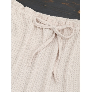 Bowknot Off The Shoulder Knitted Top -