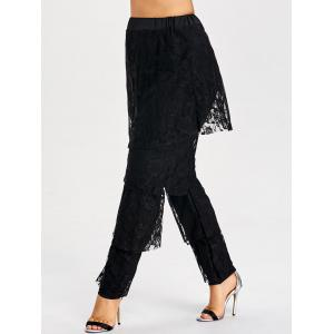 Pantalon en dentelle semi-transparente -