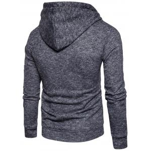 Cotton Blends Pouch Pocket Zip Up Hoodie -