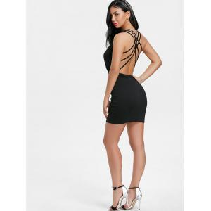 Strappy Back Plunging Neck Dress -